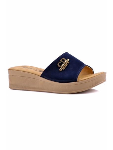 Papuci cu talpa ortopedica Kasidi albastri