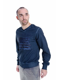 Tricou barbatesc Denim blue