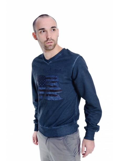 Tricou barbatesc Denim blue