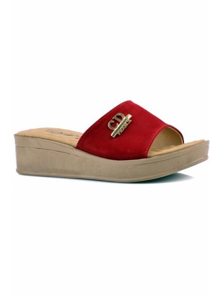 Papuci cu talpa ortopedica Kasidi culoarea rosie