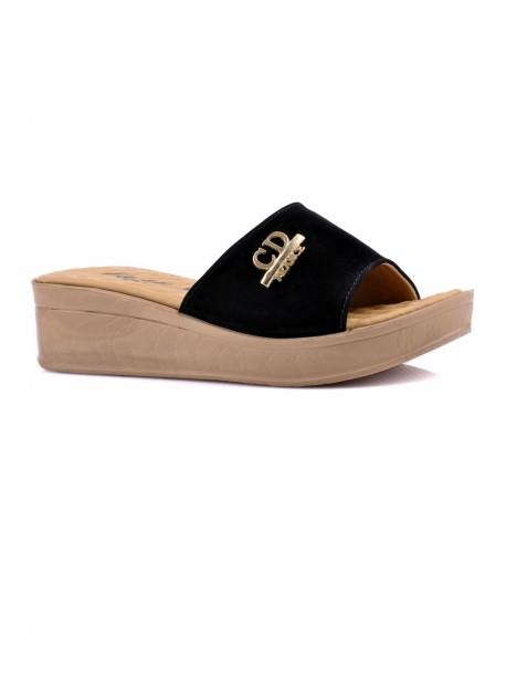 Papuci cu talpa ortopedica Kasidi negri