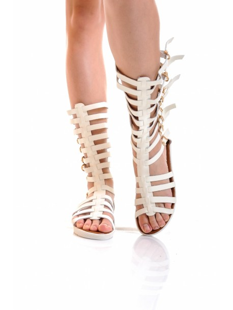 Sandale Florina albe