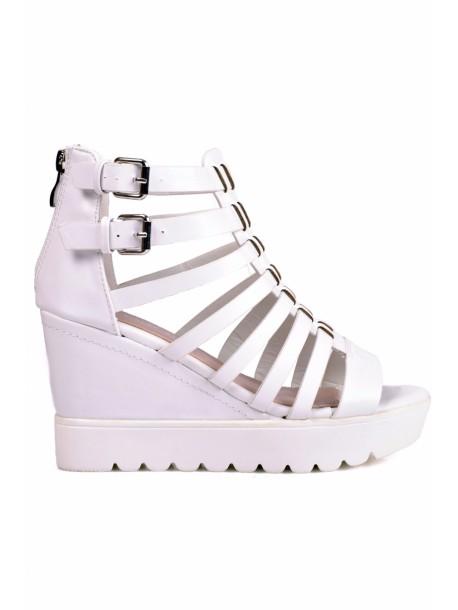 Sandale Renata albi