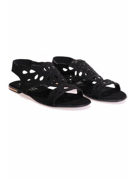 Sandale cu pietre negre