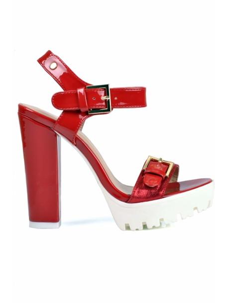 Sandale Jenica culoare rosie