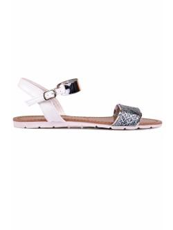 Sandale Elina albe