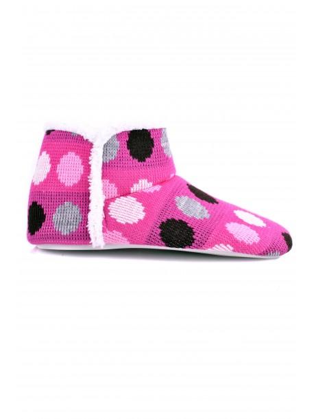 Botosei de casa Beki roz cu buline