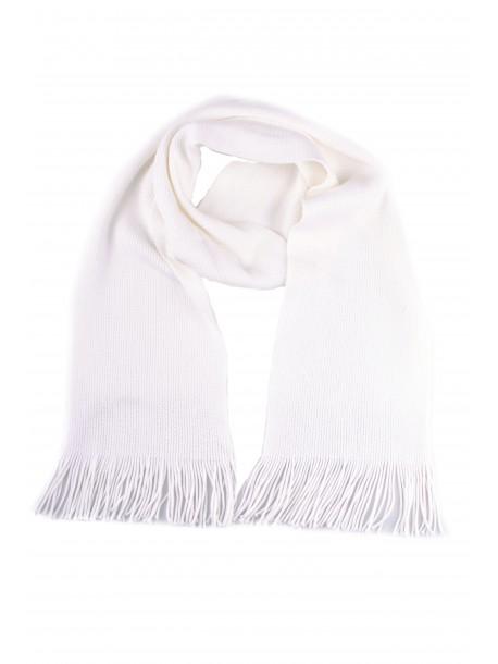 Fular tricotat alb