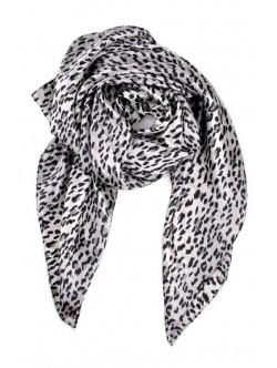 Esarfa din satin cu imprimeu de leopard