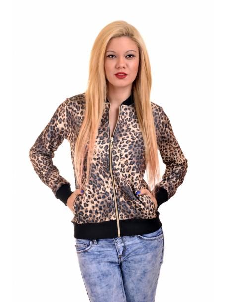 Bluzita sport cu imprimeu de leopard Aly