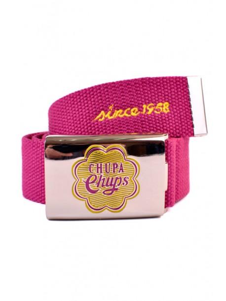 Curea din textil in roz Chupa Chups
