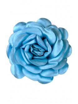 Trandafir din satin in albastru