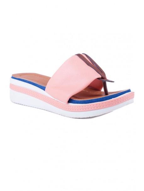 Papuci de dama cu talpa ortopedica Klarisa portocaliu