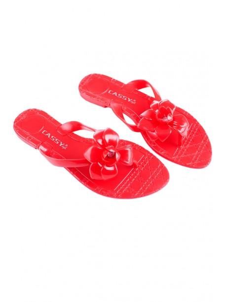 Papuci din silicon Kasi rosu
