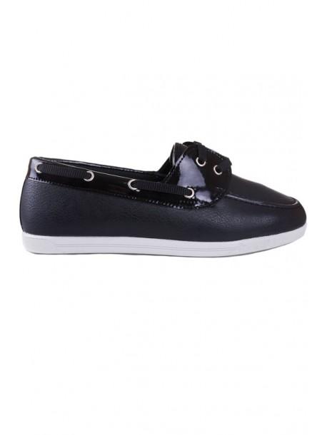 Pantofi negri cu talpa joasa