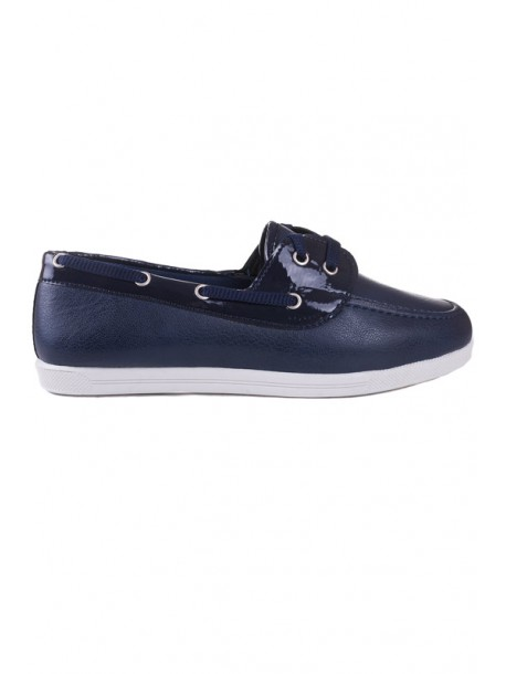 Pantofi albastri cu talpa joasa