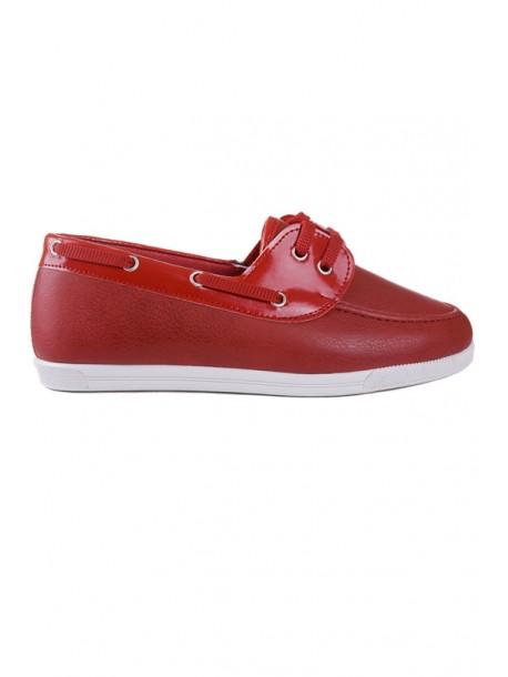 Pantofi rosi cu talpa joasa