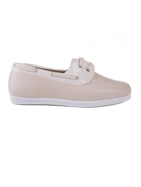 Pantofi bej cu talpa joasa