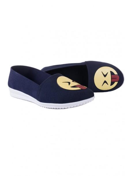 Pantofi albastri cutalpa joasa Emotion
