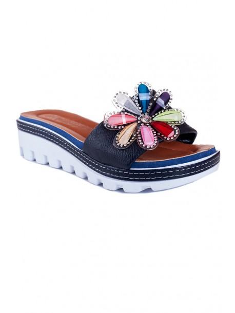Papuci albastri Zoya
