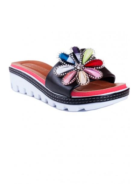 Papuci negri Zoya