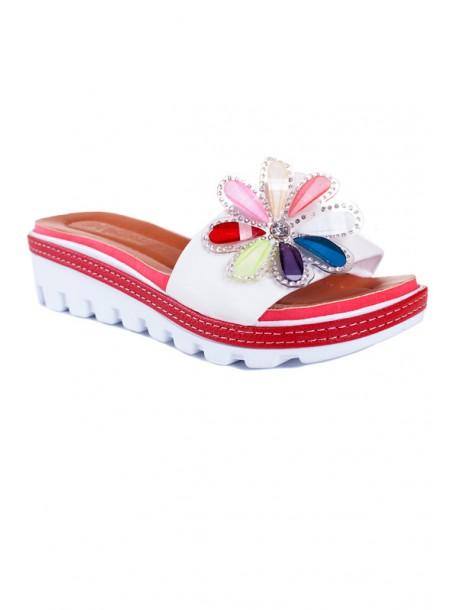 Papuci albi Zoya
