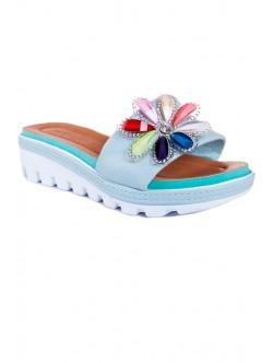 Papuci bleu Zoya