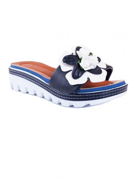 Papuci cu talpa ortopedica in albastru inchis