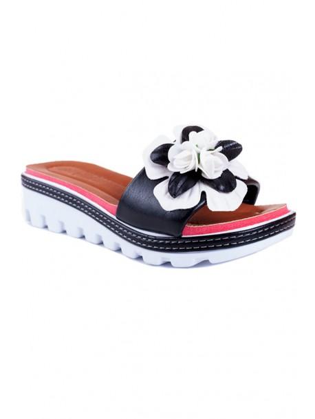Papuci cu talpa ortopedica cu flori