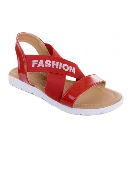 Sandale in culoarea rosie cu elastic