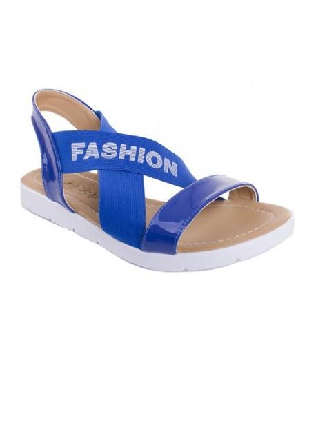 Sandale albastre cu elastic
