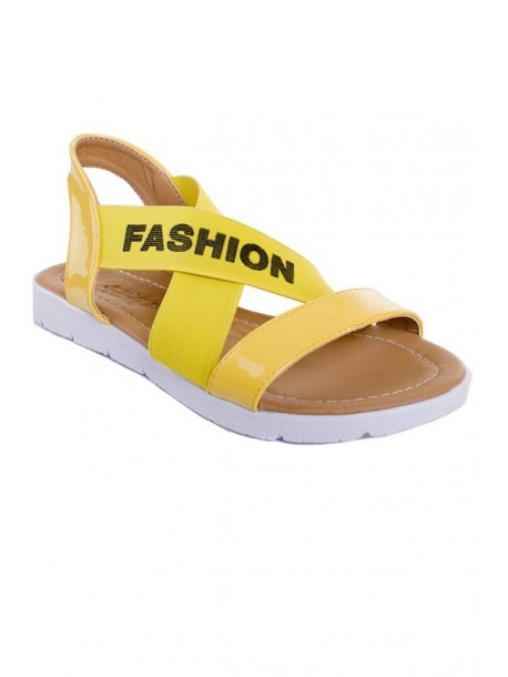 Sandale galbene cu elastic