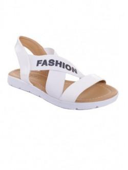 Sandale albe cu elastic