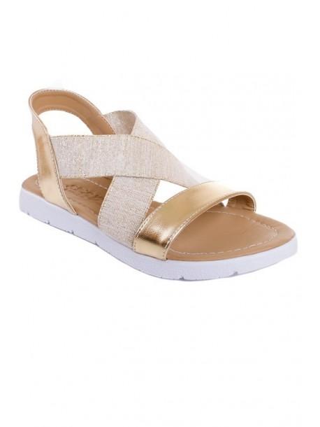 Sandale aurii cu elastic
