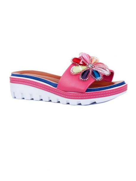 Papuci Zoya culoarea roz bonbon