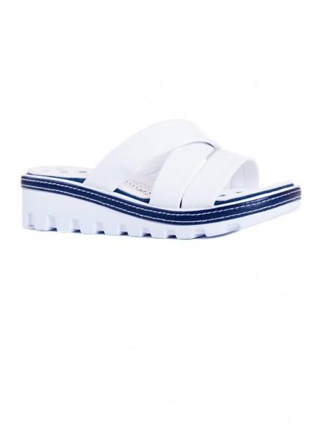 Papuci Florida alb si albastru