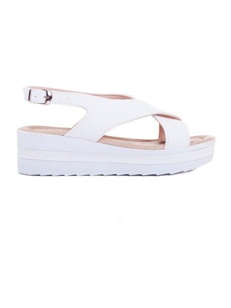Sandale albe Ira