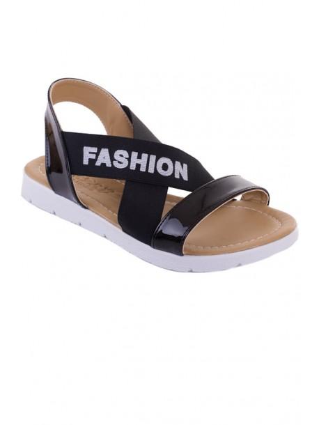 Sandale negre cu elastic