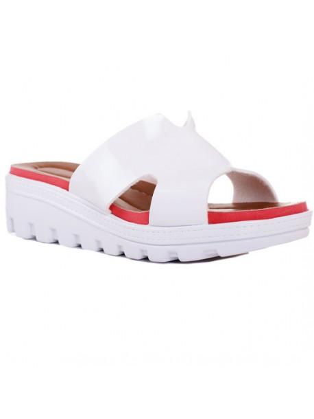 Papuci lac alb