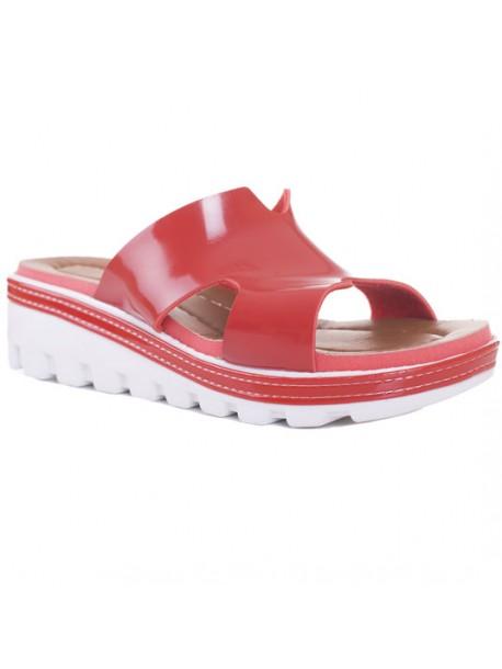 Papuci lac in culoarea rosie