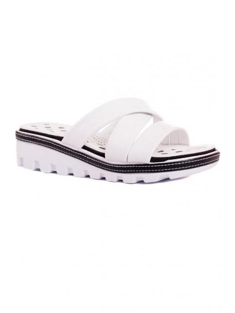 Papuci Florida in alb si negru