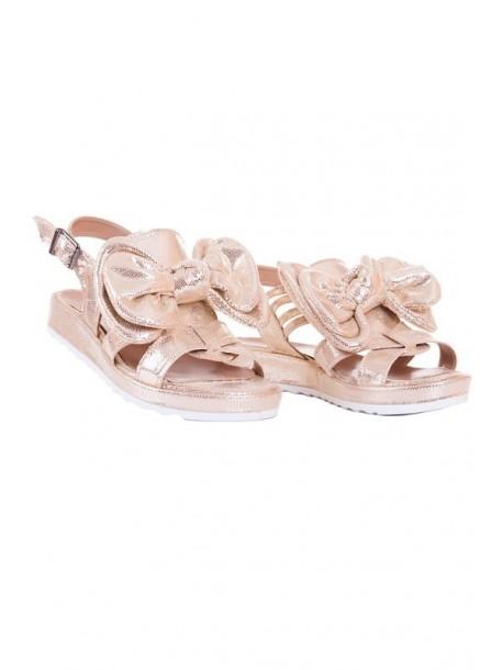 Sandale aurii cu fundita