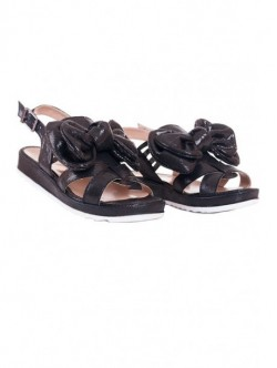 Sandale negre cu fundita