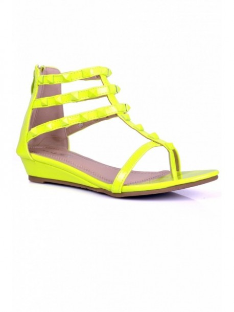 Sandale verde luminos Chrissi