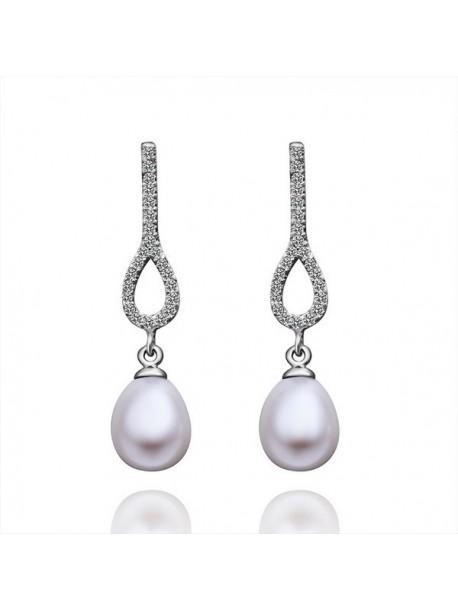 Cercei perla elegante