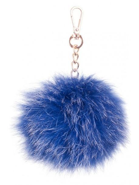 Pompon albastru pandantiv