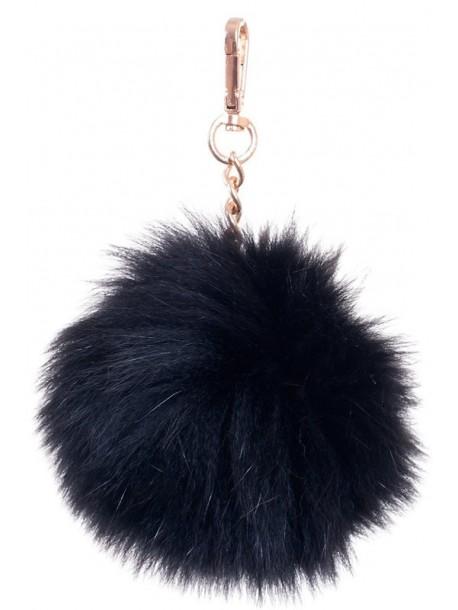 Pompon negru pentru caciula