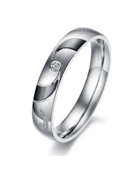 Inel de nunta cu cristal