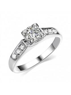 Inel argintiu cu cristal