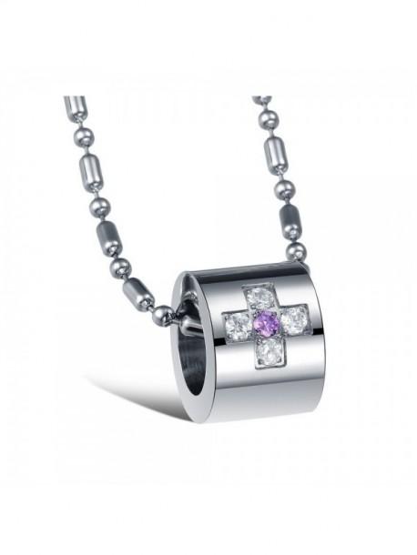 Colier de dama cu piatra lila